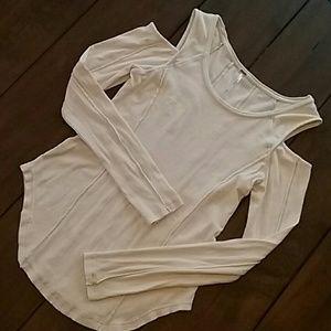 Free People Ribbed Long Sleeve Shirt
